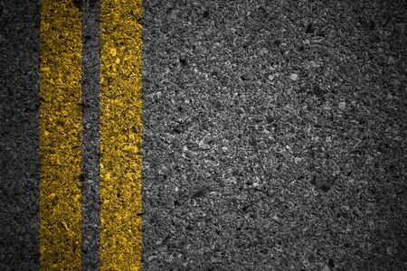 white lines: Asphalt surface of road with white lines