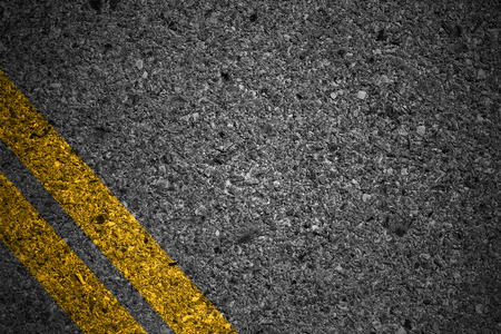 road surface: Asphalt surface of road with white lines