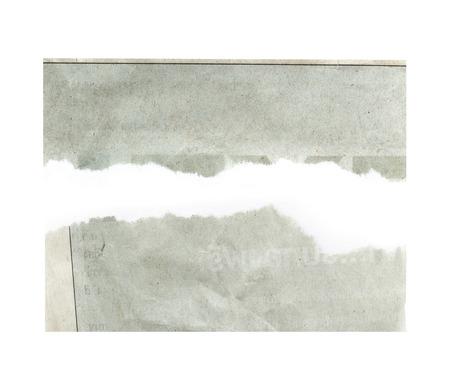 破れた紙は、白い背景で隔離。