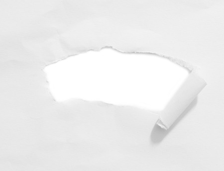 copy space: Ripped paper space for copy Stock Photo
