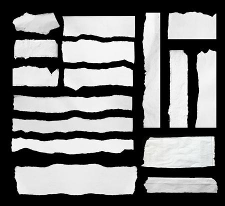 hoja en blanco: Papel rasgado blanco y negro, copia espacio