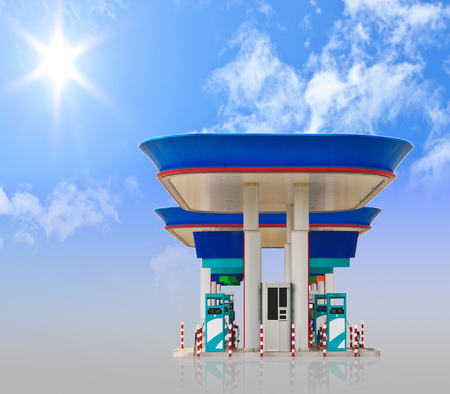 lpg: gas lpg station with beautiful blue sky background