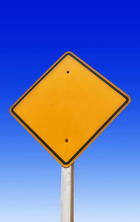 sign blank: Traffic sign blank for copy space Stock Photo