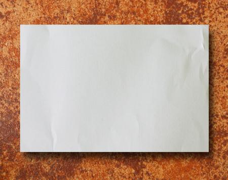 creased: Old vintage torn creased paper