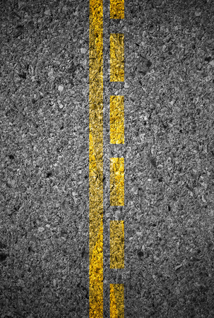 yellow line: Lines and lane markings on the on asphalt road surface texture