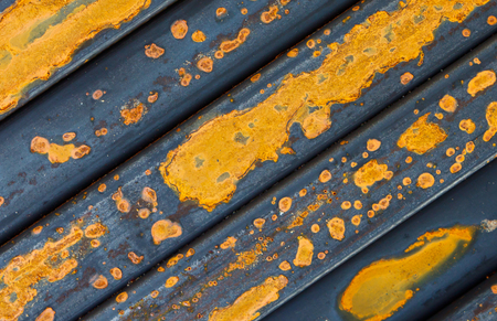 oxidate: Waste iron metals rusted. Stock Photo