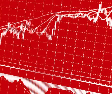 株式市場図キャンドル バー貿易を抽象化します。 写真素材