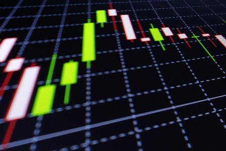 Business screen stock exchange data grafiek achtergrond Stockfoto