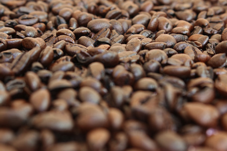 cofe: Coffee beans closeup background, selective focus.