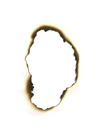 Verbrand papier randen set geïsoleerd op wit