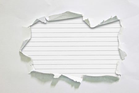 破れた紙 写真素材