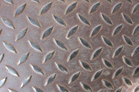 diamond plate: grunge diamond metal plate Stock Photo