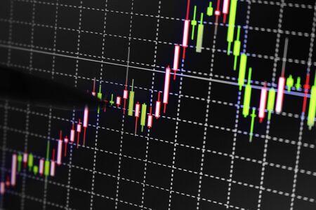 stock chart: Stock exchange chart graph. Stock Photo