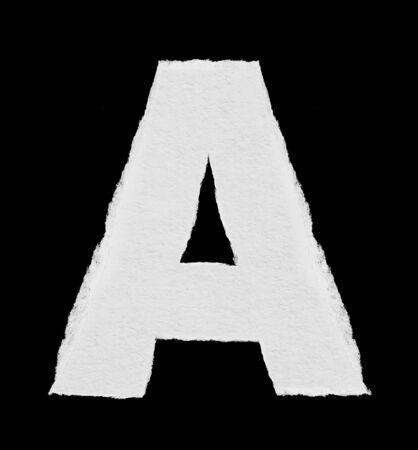 detail invitation: rip paper alphabet A