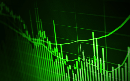 stock market charts: Business screen stock exchange Stock Photo