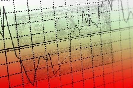 stock trader: Stock exchange chart graph. Finance business background. Abstract stock market diagram candle bars trade. Stock Photo