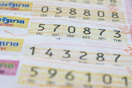 billetes de lotería de Tailandia, enfoque suave.