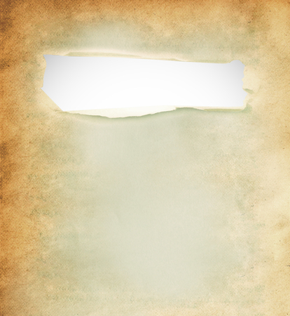 white hole: White hole on old paper with clipping path. Stock Photo