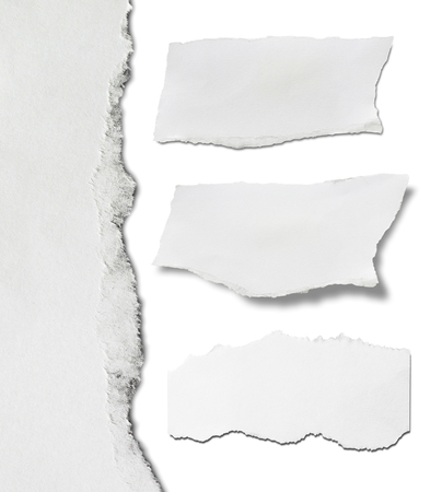 space for copy: Piece of torn paper, Ripped paper, space for copy