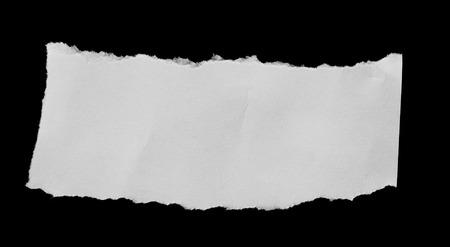 tear paper: Tear paper on black background for message