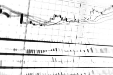 株式市場の投資の取引のグラフ。 写真素材