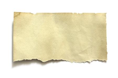 Stuk gescheurd papier, ruimte voor kopiëren