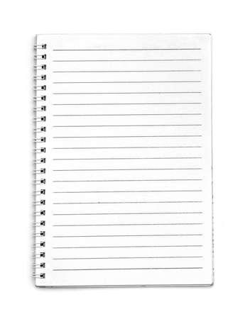 Blank line notebook