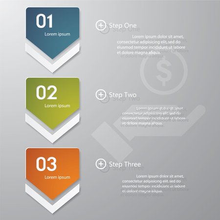 Design clean number banners template graphic or website layout  Vector  Иллюстрация