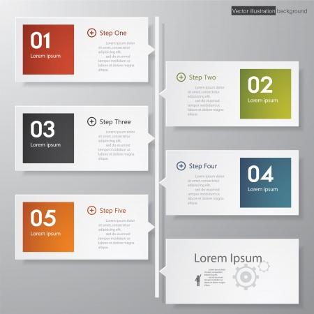 Ontwerp schoon aantal banners sjabloon grafische of website layout tijdlijn Vector