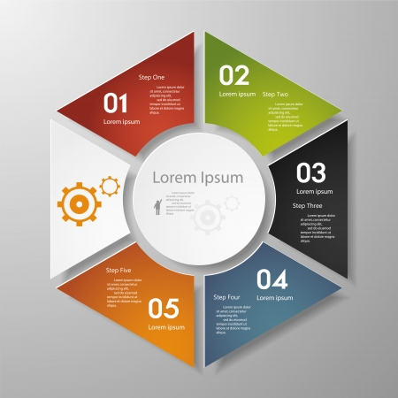 Design clean number banners template graphic or website layout timeline  Vector Фото со стока - 24543090