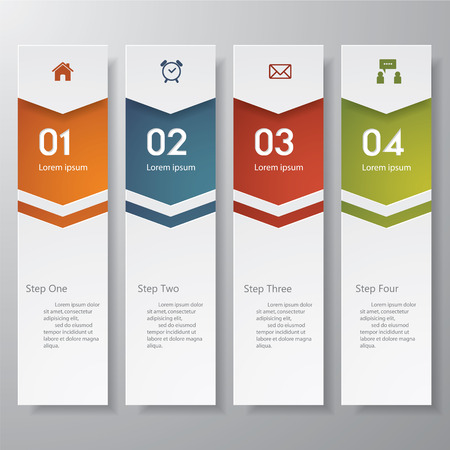 numbers background: Design clean number banners templategraphic or website layout. Vector.