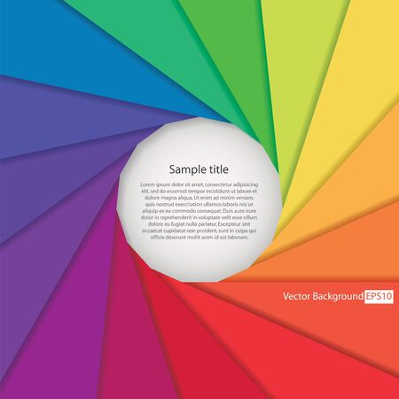 abstract background with color wheel aperture and free space for sample text Vector
