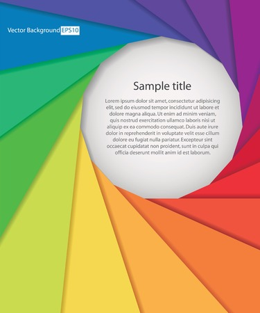 abstract aperture: abstract background with color wheel aperture and free space for sample text. Vector.