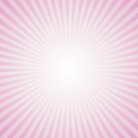 Sunburst Pattern. Radial background. Pink Color. Иллюстрация