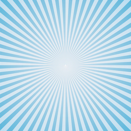 light blue color burst background. Vector illustration Ilustração