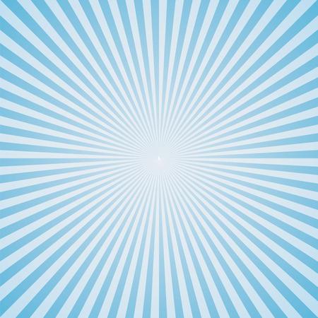 light blue color burst background. Vector illustration Illustration