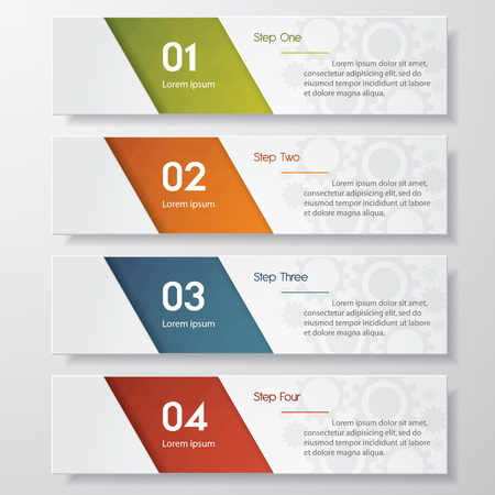 paper banner: Design clean number banners templategraphic or website layout. Vector.