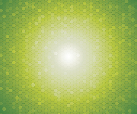 background color: a pattern of green color hexagon shapes for background. Vector.