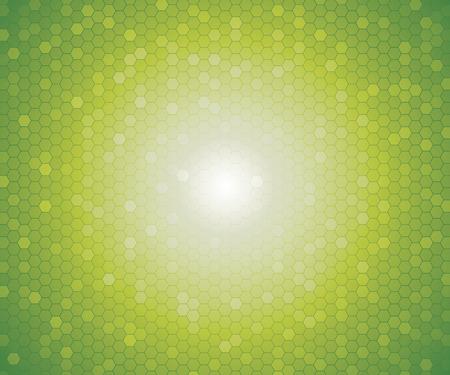 verde: un patrón de color verde del hexágono moldea para el fondo. Vector.
