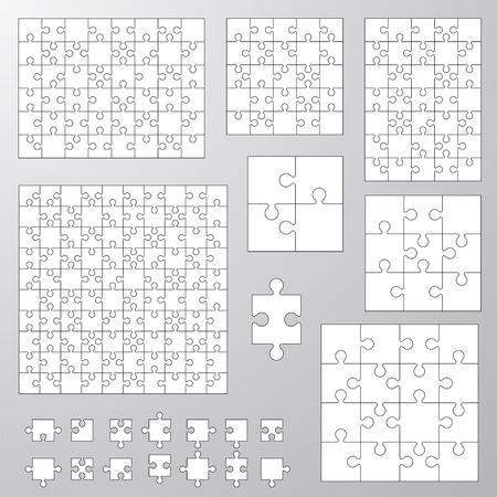 verzameling van verschillende afmetingen puzzel