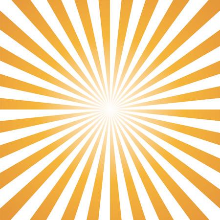orange and white color burst background. Vector illustration Illustration