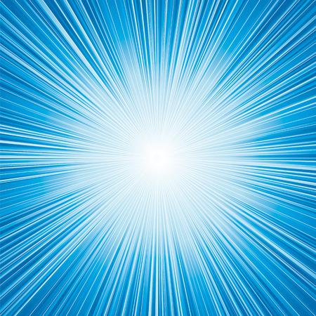 light blue color burst background