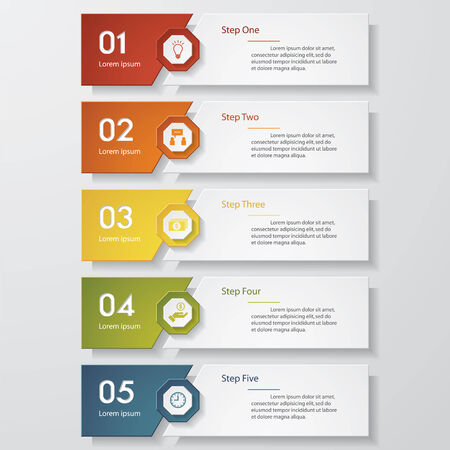 clean background: Design clean number banners templategraphic or website layout. Vector.