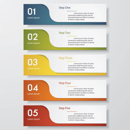 Design clean number banners template/graphic or website layout. Vector. Иллюстрация