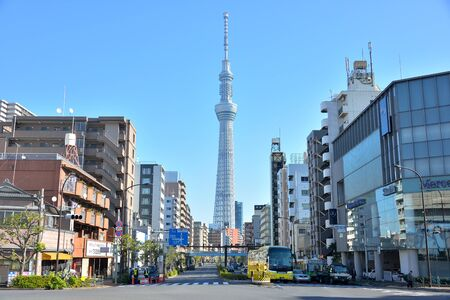 Tokyo Sky Tree in the Clearly sky day.