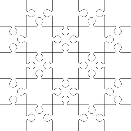 Jigsaw Puzzle Blank Template Or Cutting Guidelines   Ratio