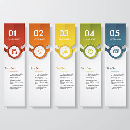 template: Design clean number banners template. Vector.