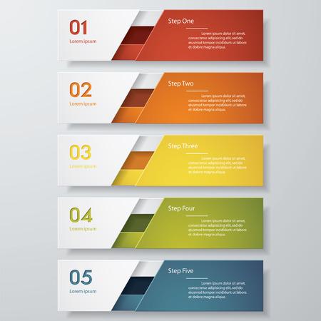 website: Design clean number banners template. Vector.