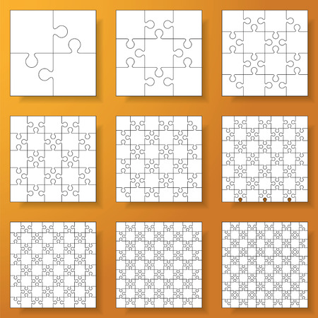 collection of various sizes(2*2-10*10) jigsaw puzzle.