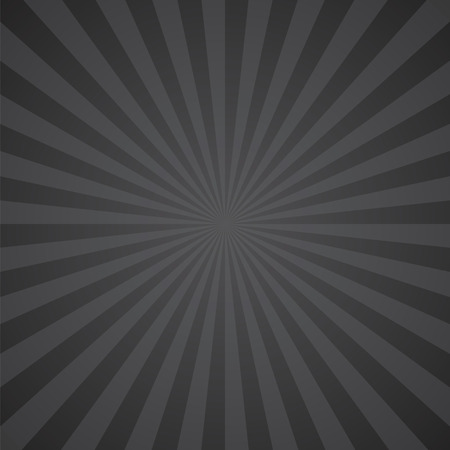 black-gray color burst background. Vector illustration Ilustração